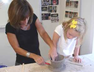 kids pottery lesson